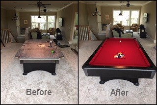 professional pool table refelting in Cary content image4